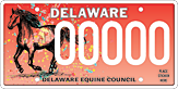 Delaware Equine Council License Plate